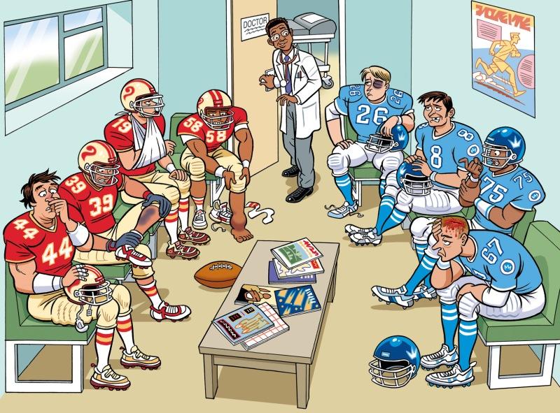 AmericanFootballers:Doctor'sWaitingRoom