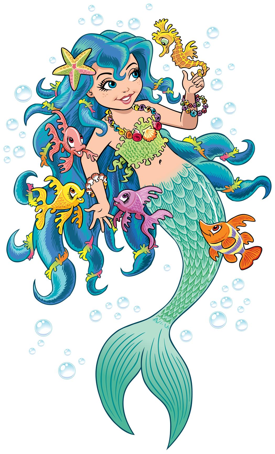 mermaid wall stickers geo parkin